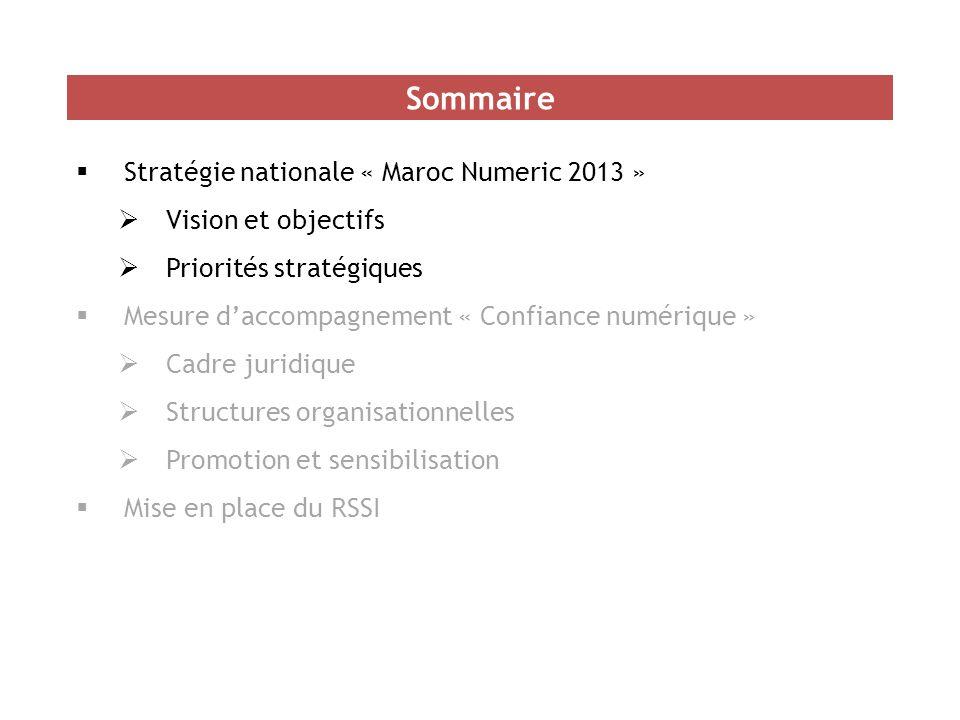 Sommaire Stratégie nationale « Maroc Numeric 2013 »