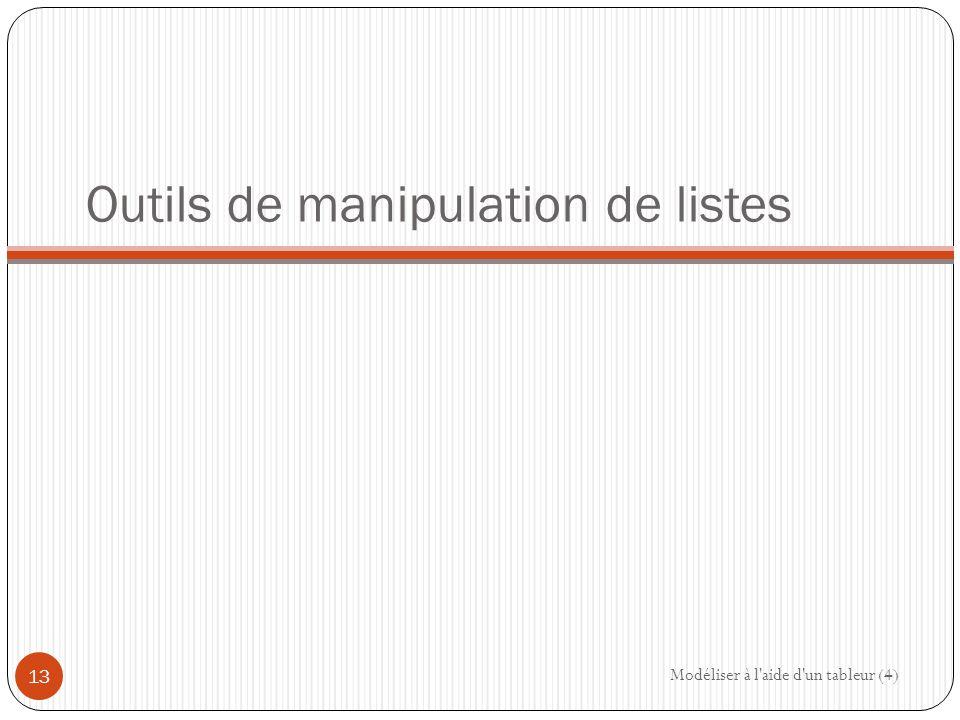 Outils de manipulation de listes
