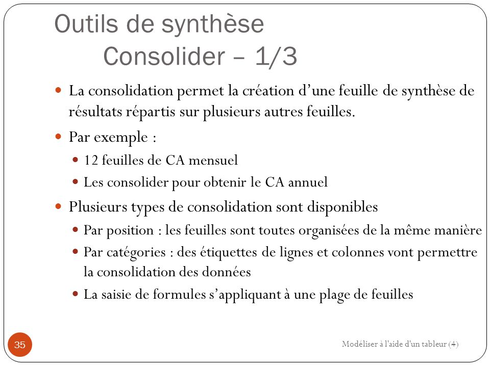 Outils de synthèse Consolider – 1/3