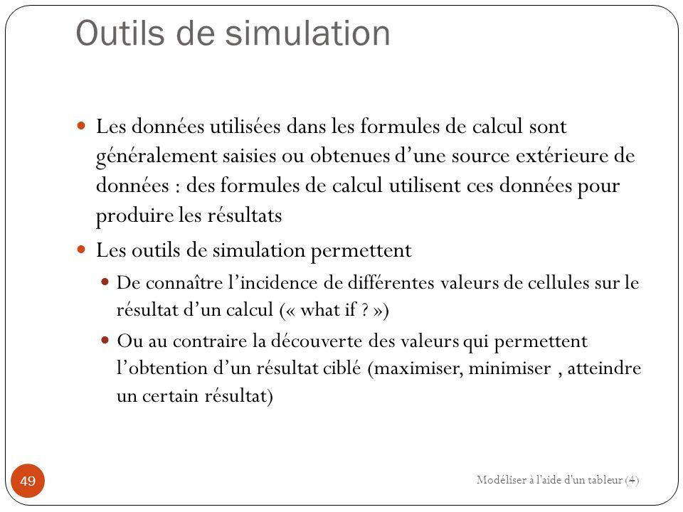 Outils de simulation