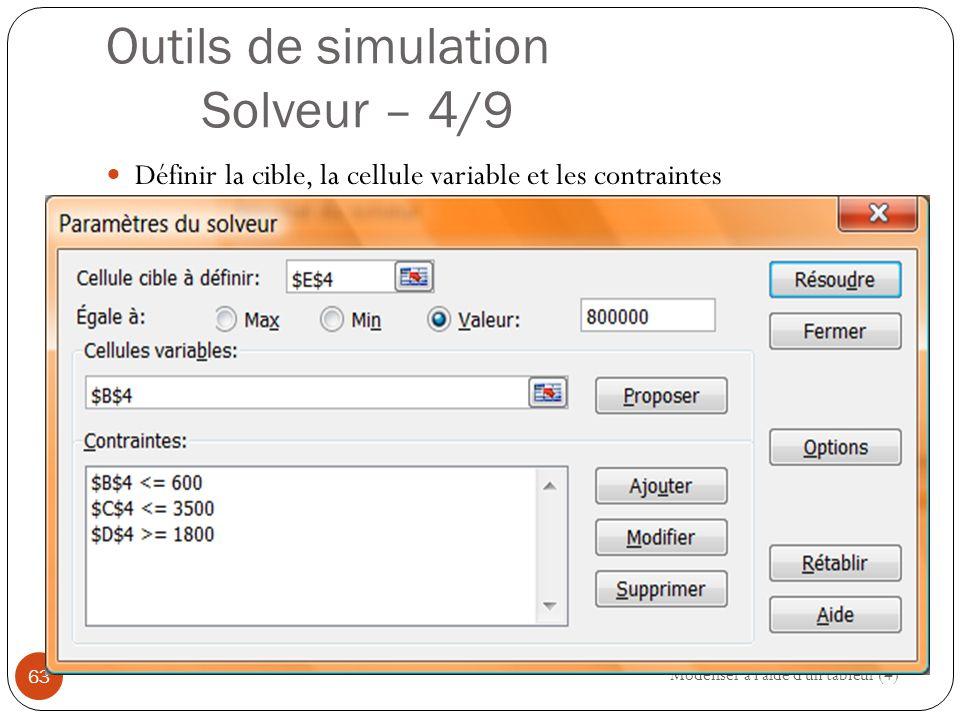 Outils de simulation Solveur – 4/9