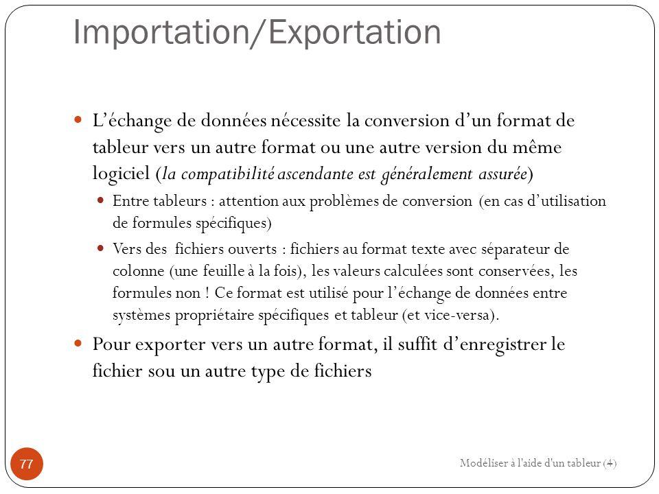 Importation/Exportation