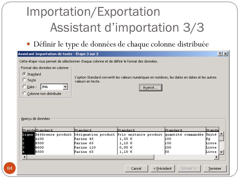 Importation/Exportation Assistant d'importation 3/3
