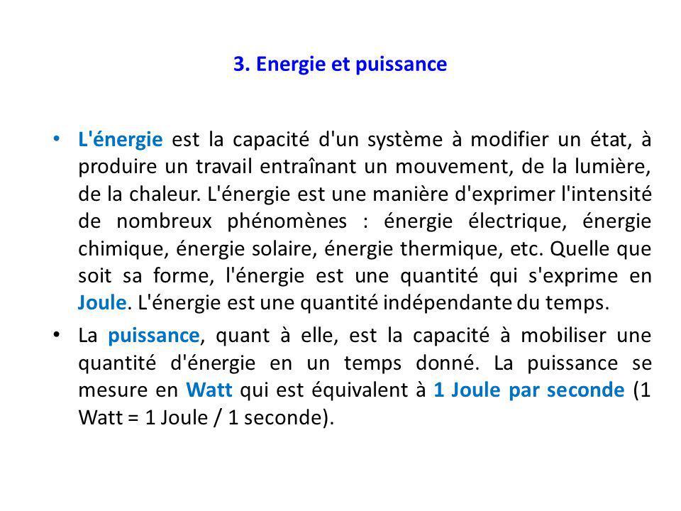 3. Energie et puissance