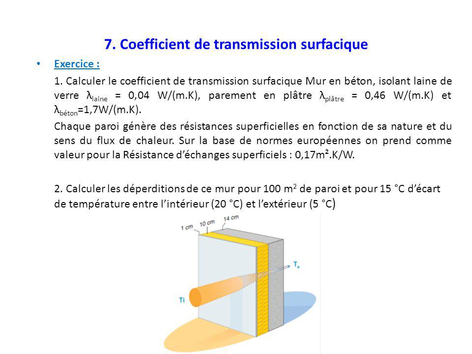 7. Coefficient de transmission surfacique