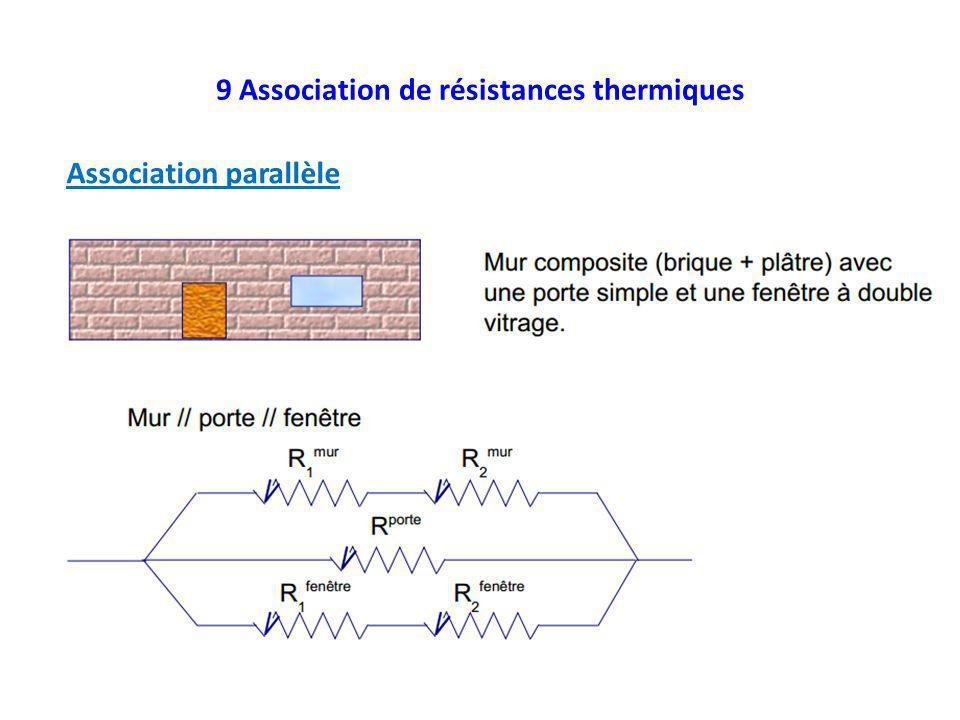 9 Association de résistances thermiques