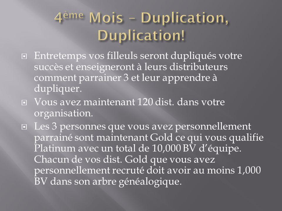 4ème Mois – Duplication, Duplication!
