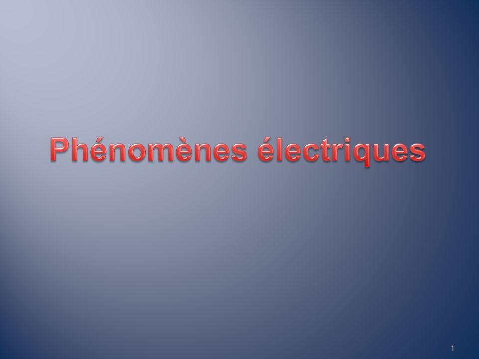 Phénomènes électriques