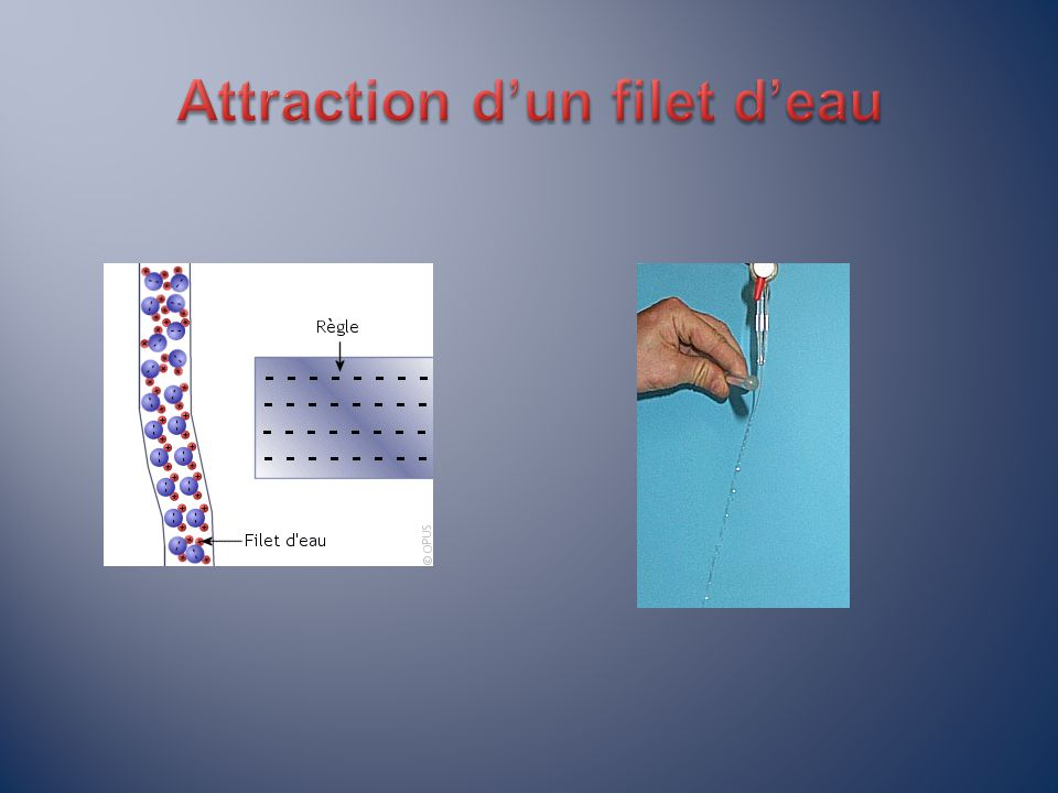 Attraction d'un filet d'eau