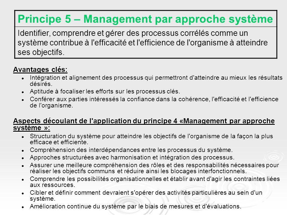Principe 5 – Management par approche système