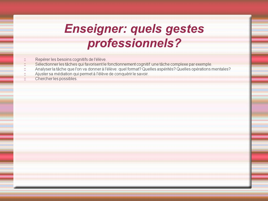Enseigner: quels gestes professionnels