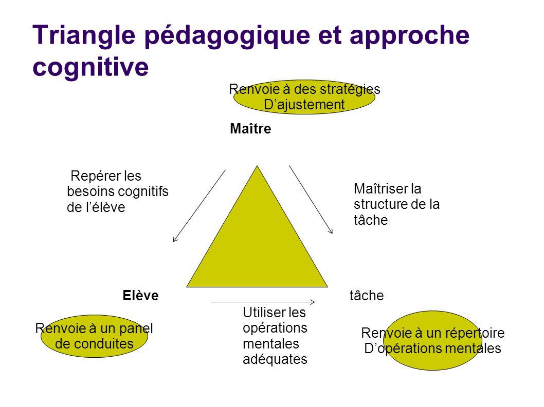 Triangle pédagogique et approche cognitive