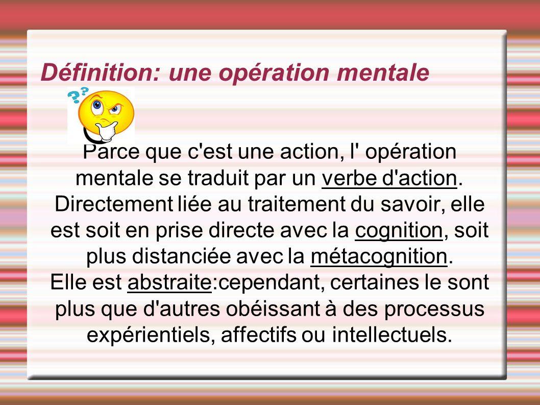 Définition: une opération mentale