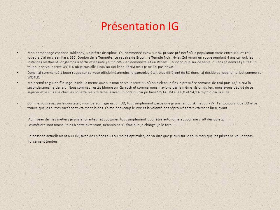 Présentation IG