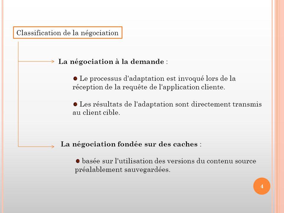 Classification de la négociation