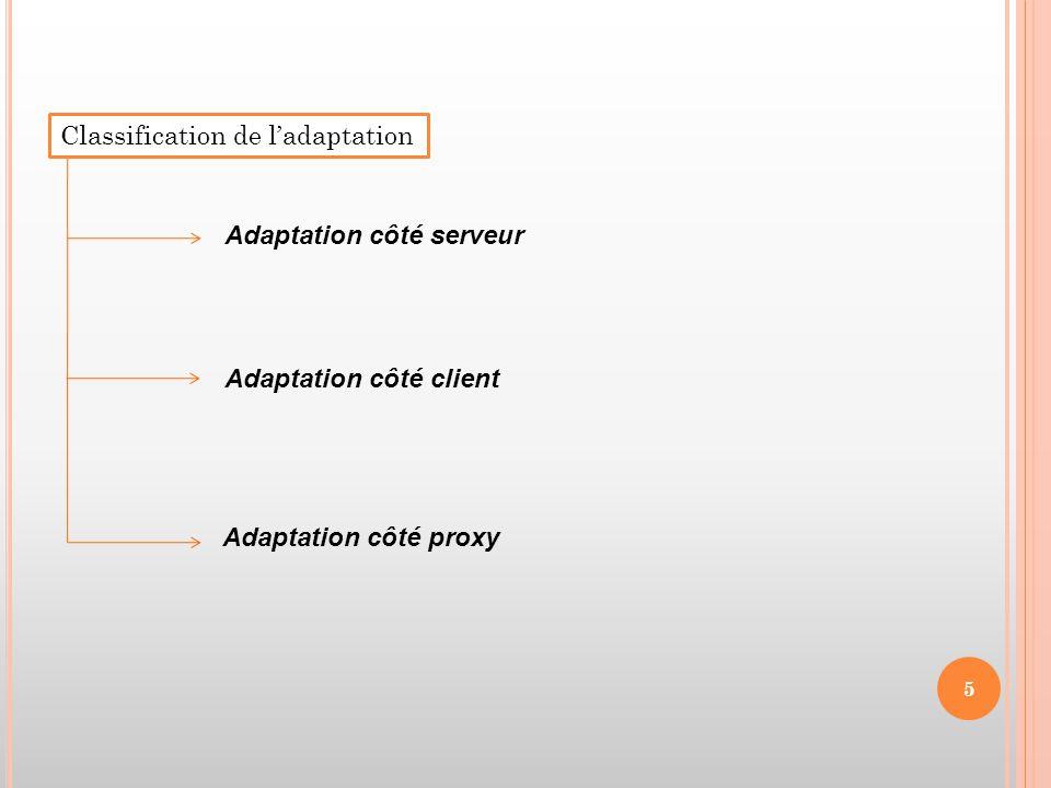 Classification de l'adaptation
