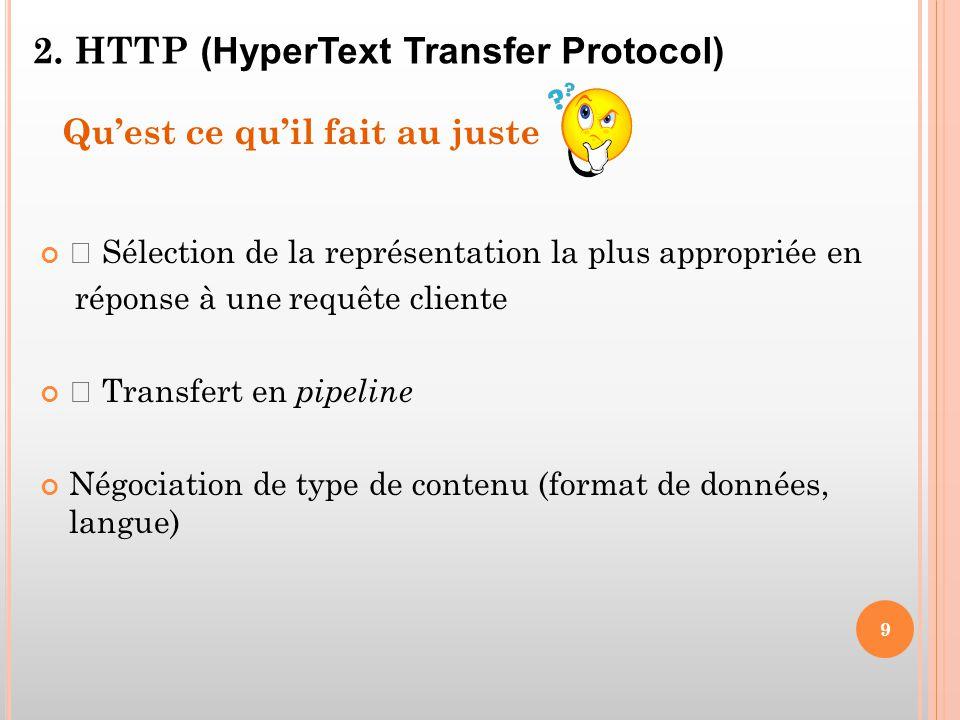 2. HTTP (HyperText Transfer Protocol)