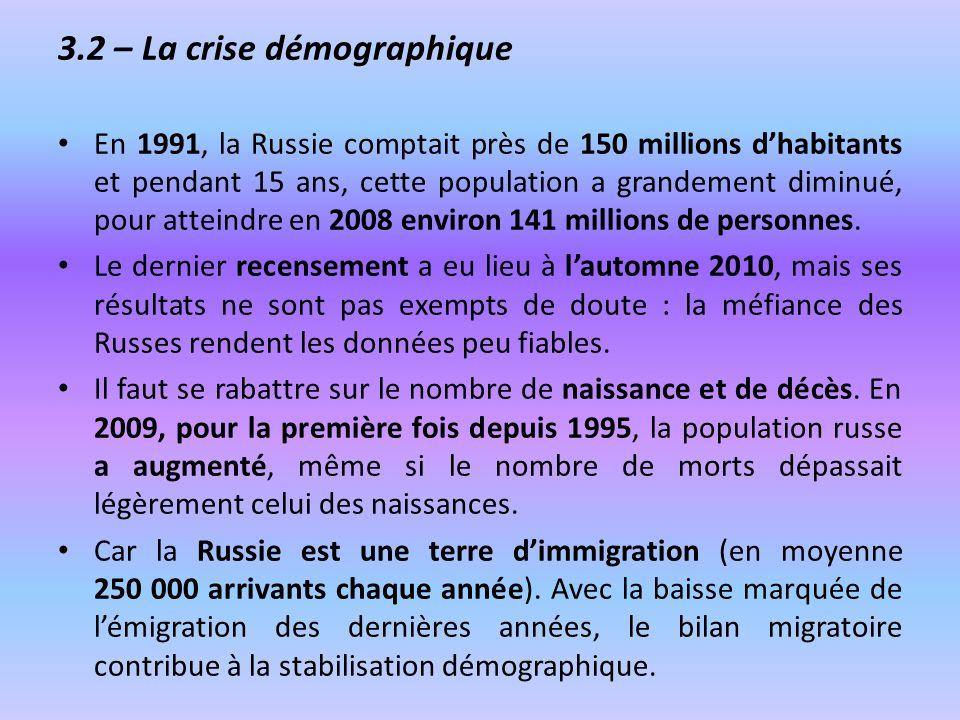 3.2 – La crise démographique