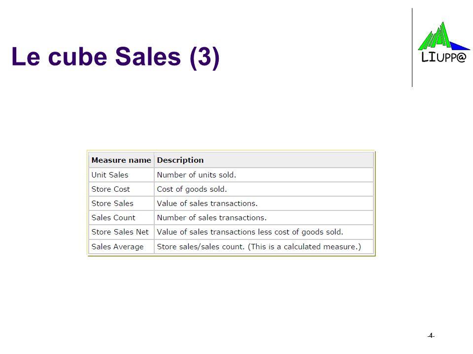 Le cube Sales (3)