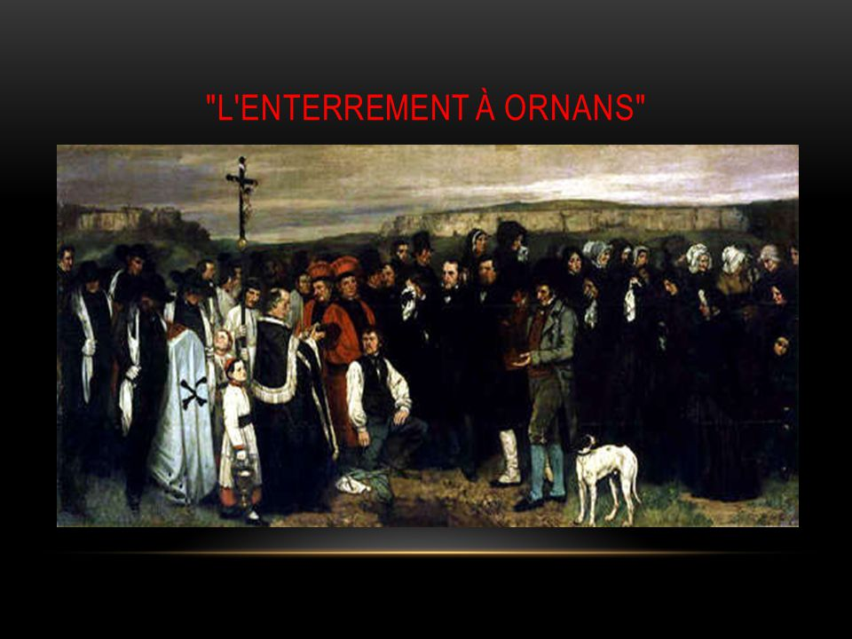 l enterrement à Ornans