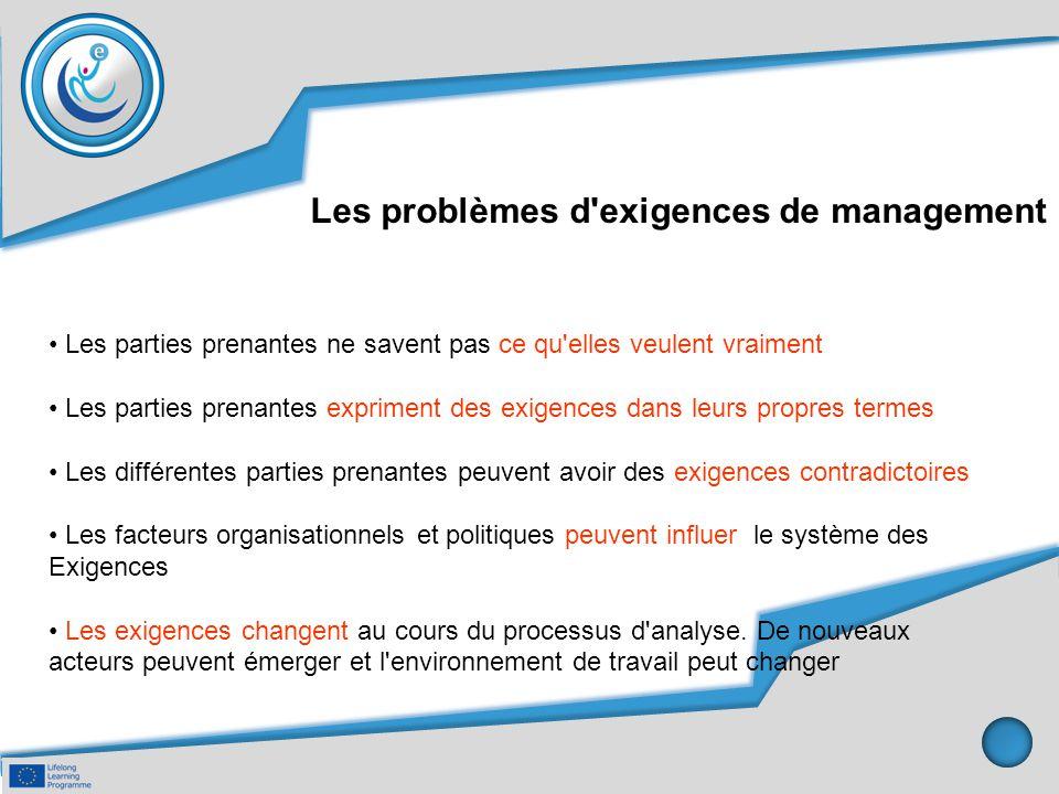 Les problèmes d exigences de management