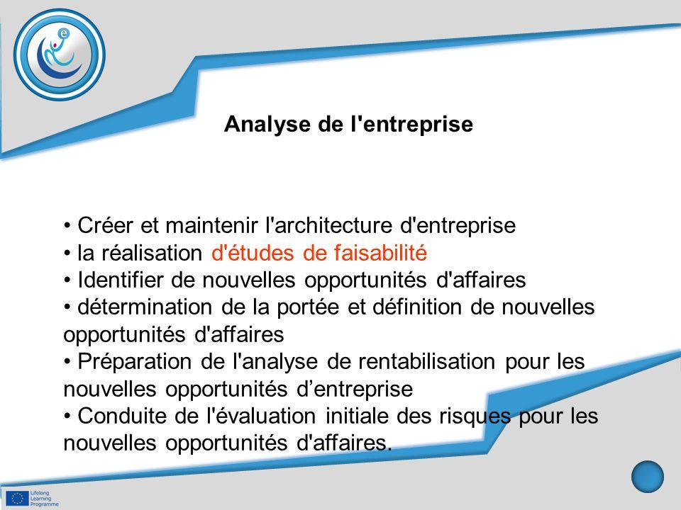 Analyse de l entreprise