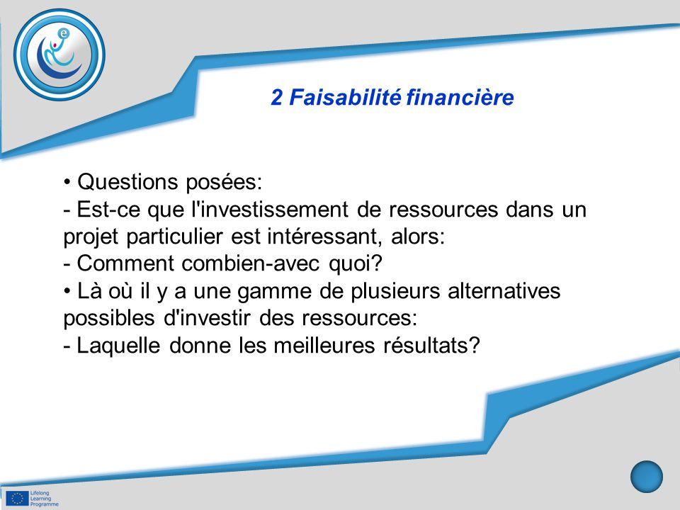 2 Faisabilité financière