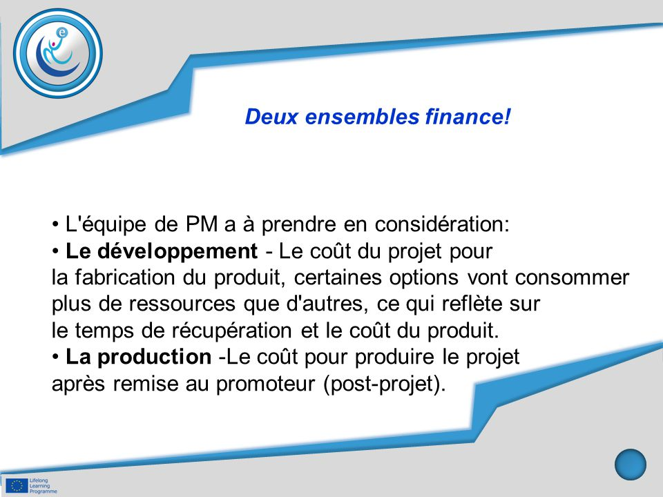 Deux ensembles finance!