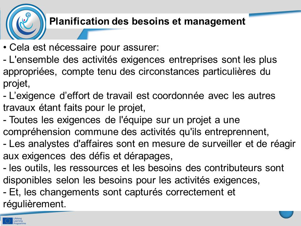 Planification des besoins et management