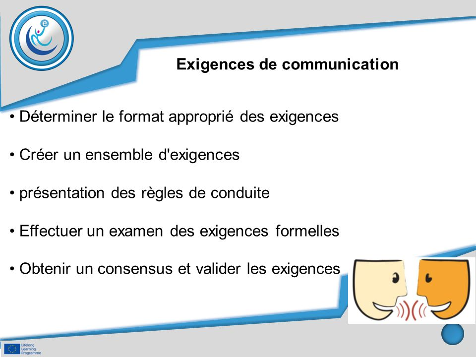 Exigences de communication