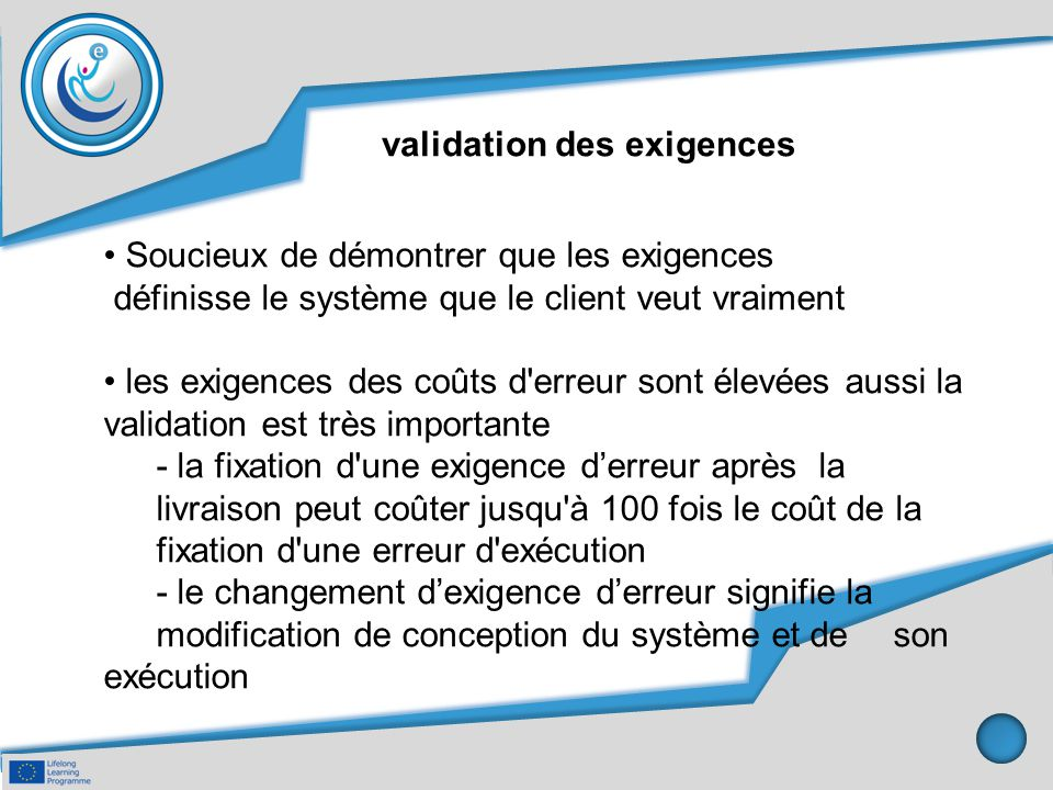 validation des exigences