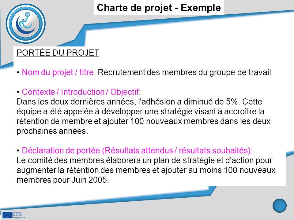 Charte de projet - Exemple