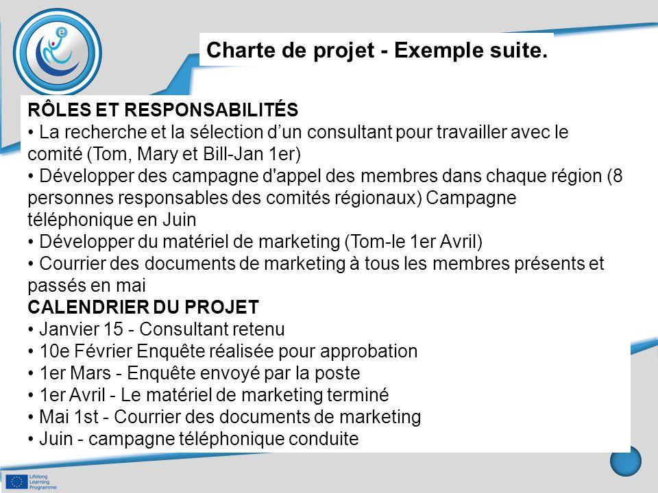 Charte de projet - Exemple suite.