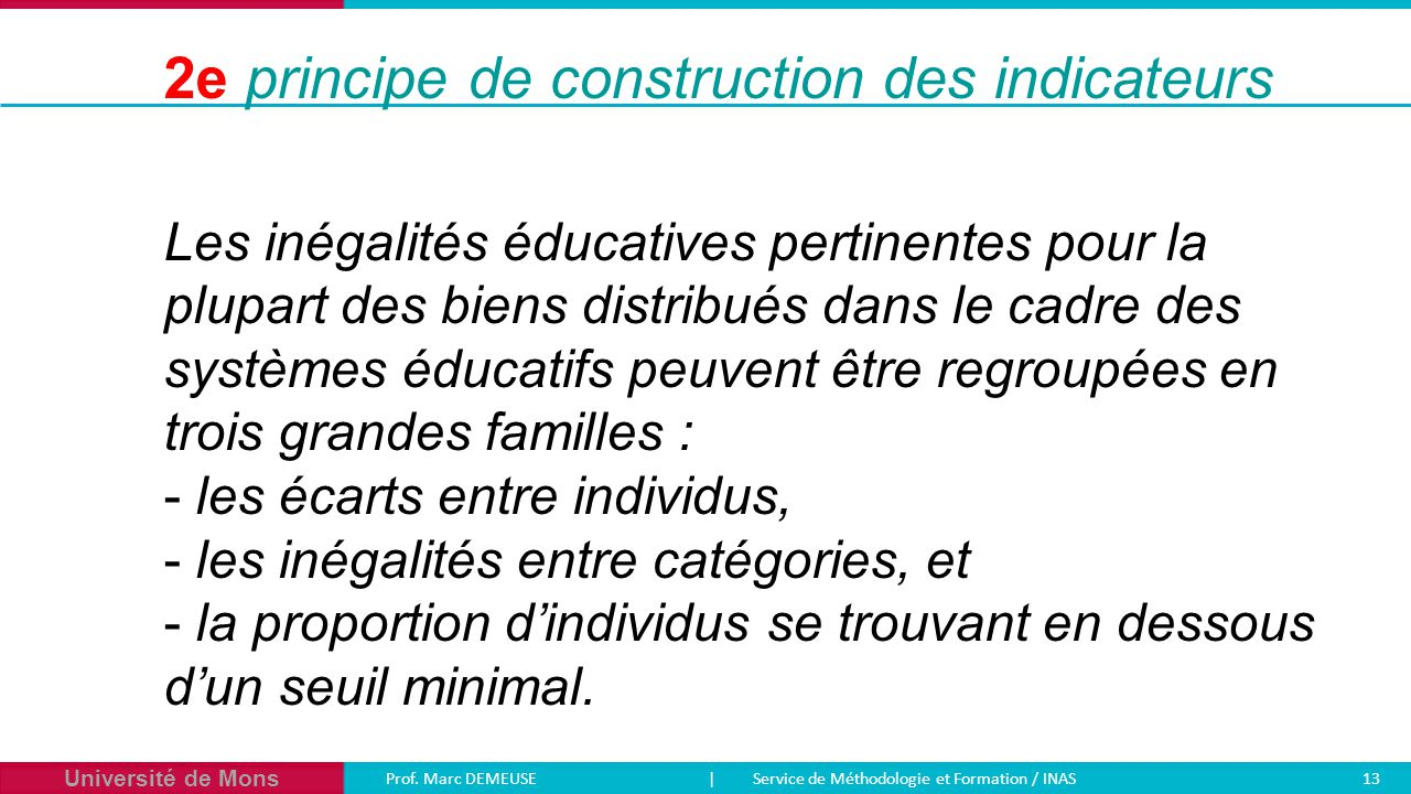2e principe de construction des indicateurs