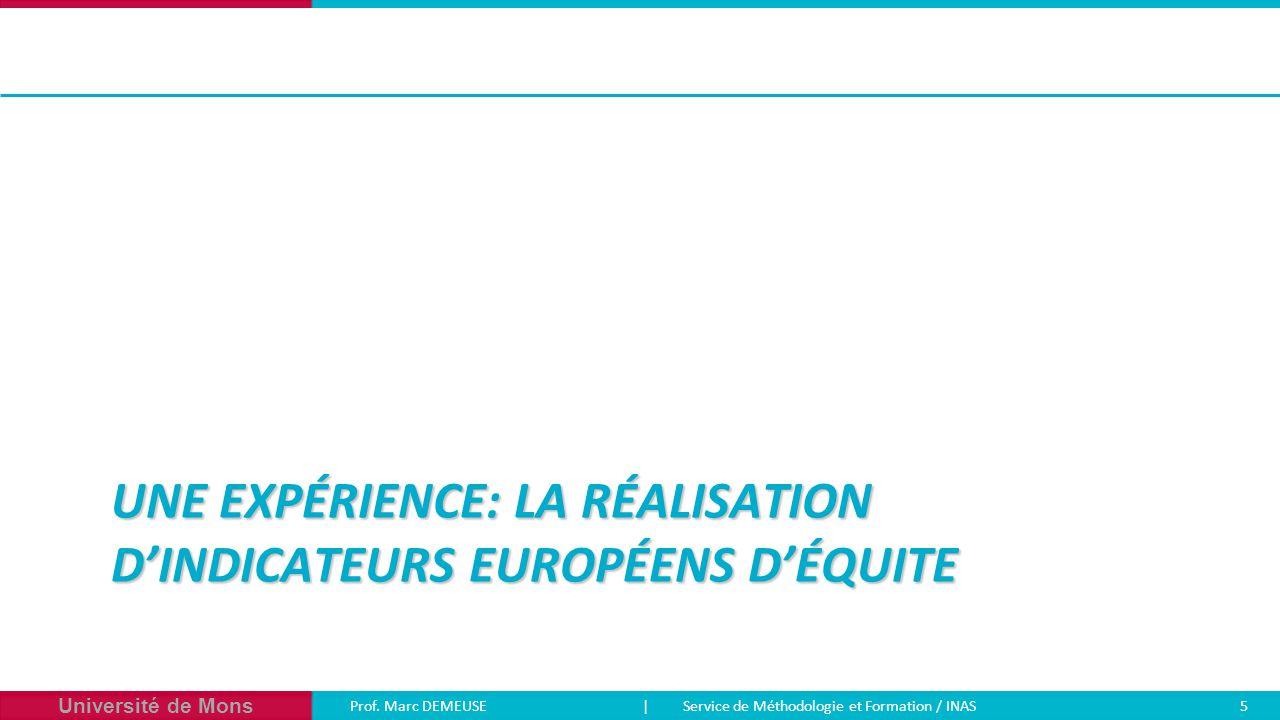 Une expérience: la réalisation d'indicateurs européens d'équite