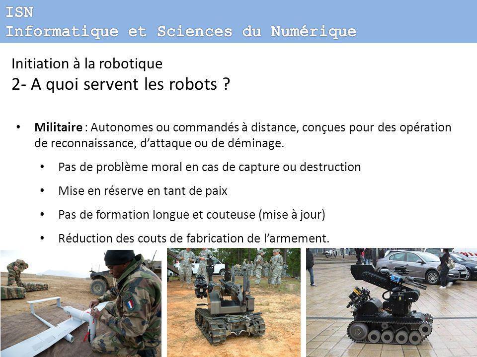 2- A quoi servent les robots