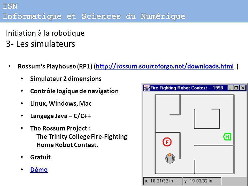 3- Les simulateurs ISN Informatique et Sciences du Numérique