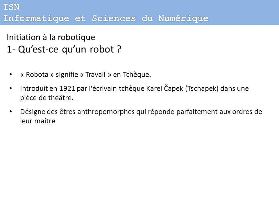 Initiation La Robotique Mini Projet Ppt T L Charger