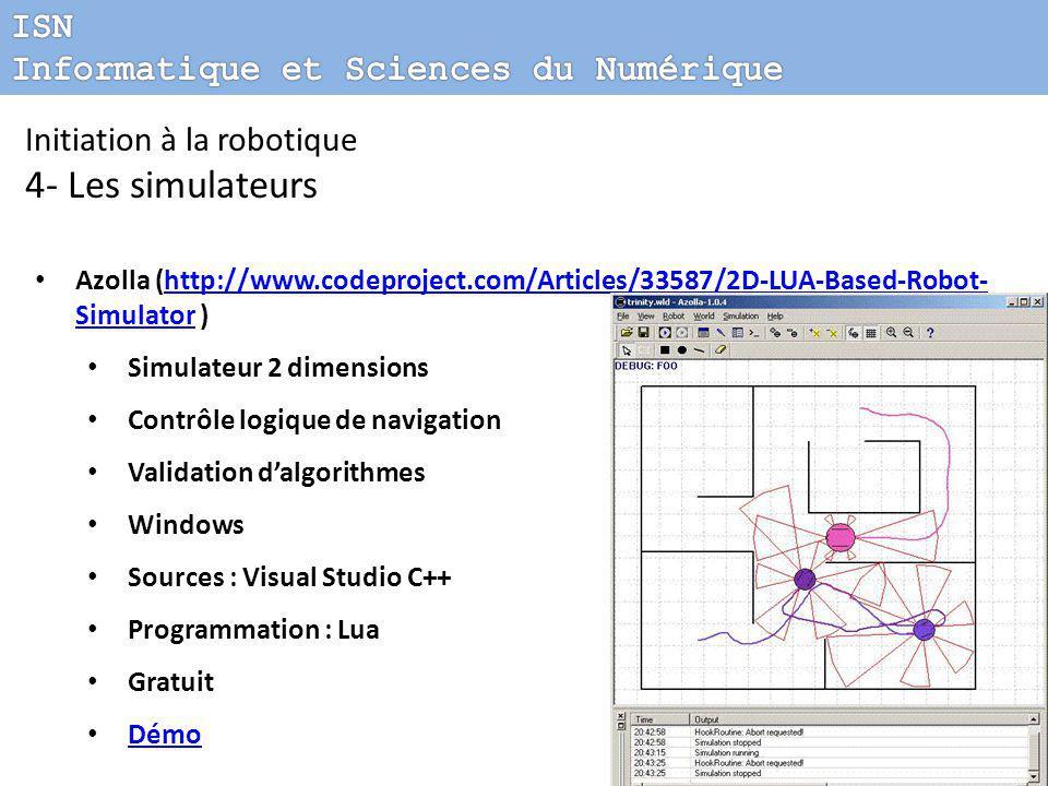 4- Les simulateurs ISN Informatique et Sciences du Numérique