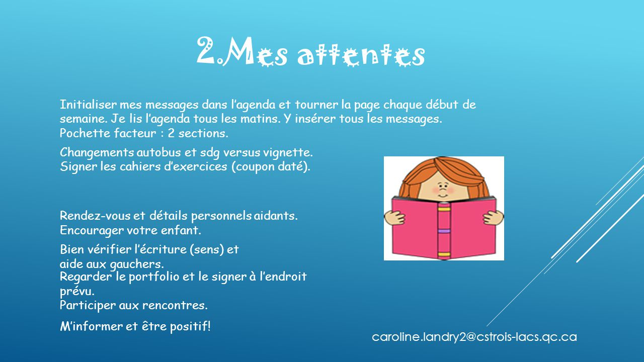 2.Mes attentes