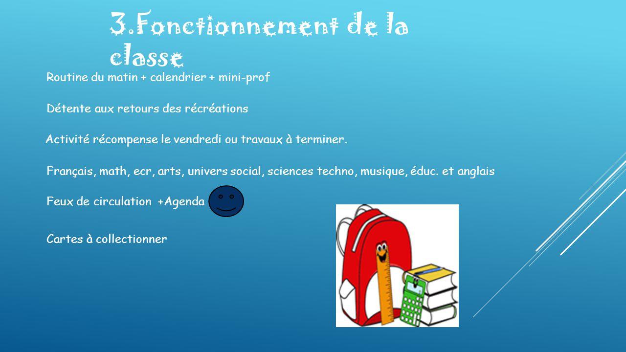 3.Fonctionnement de la classe