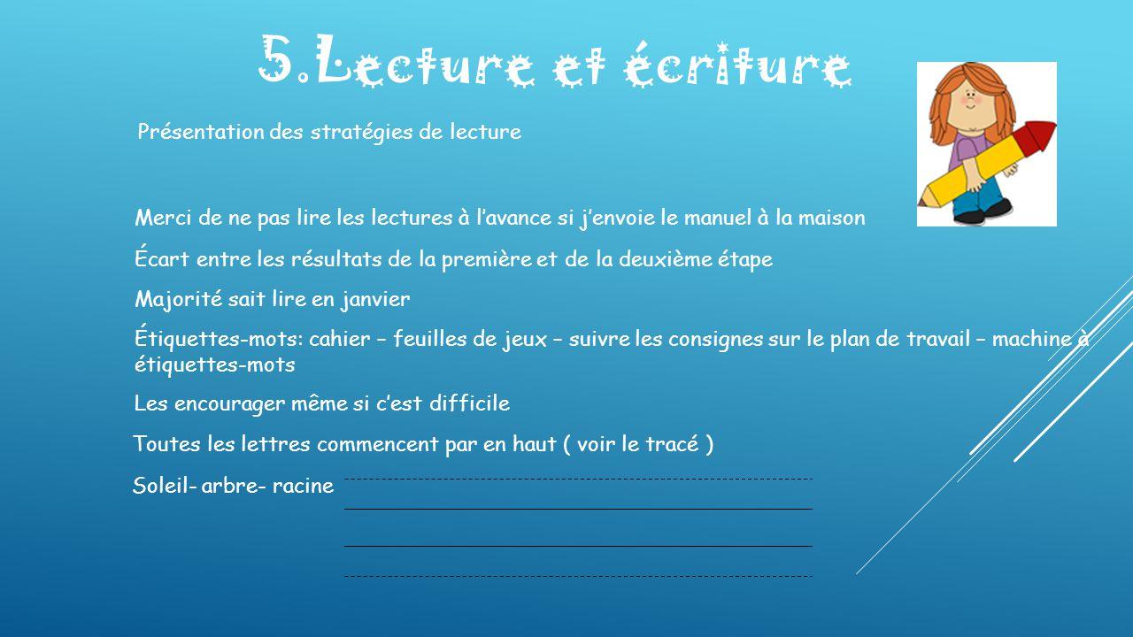 5.Lecture et écriture Présentation des stratégies de lecture