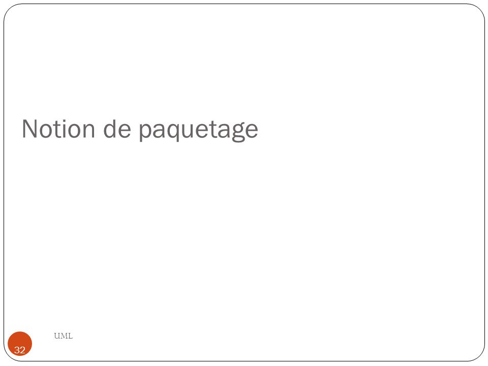 Notion de paquetage UML