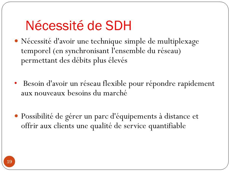 Nécessité de SDH