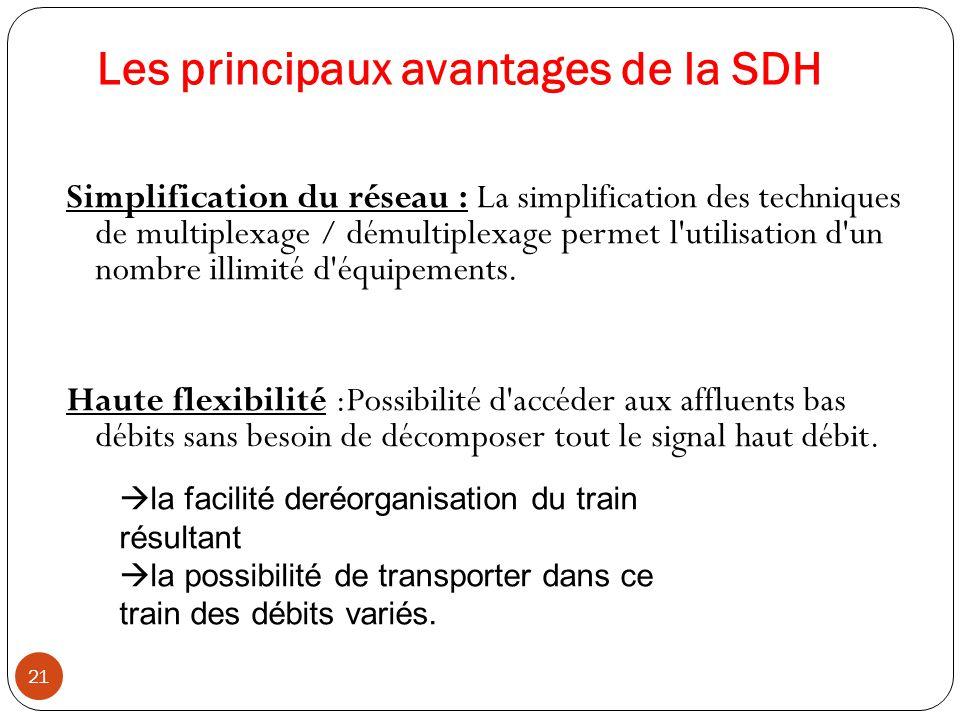 Les principaux avantages de la SDH
