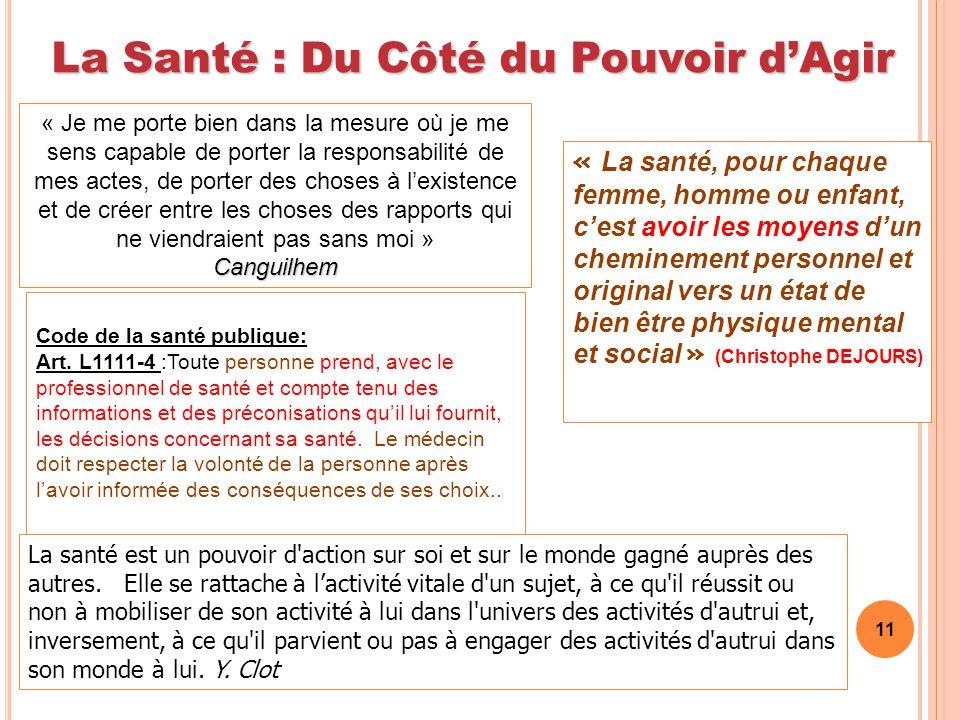 La Santé : Du Côté du Pouvoir d'Agir