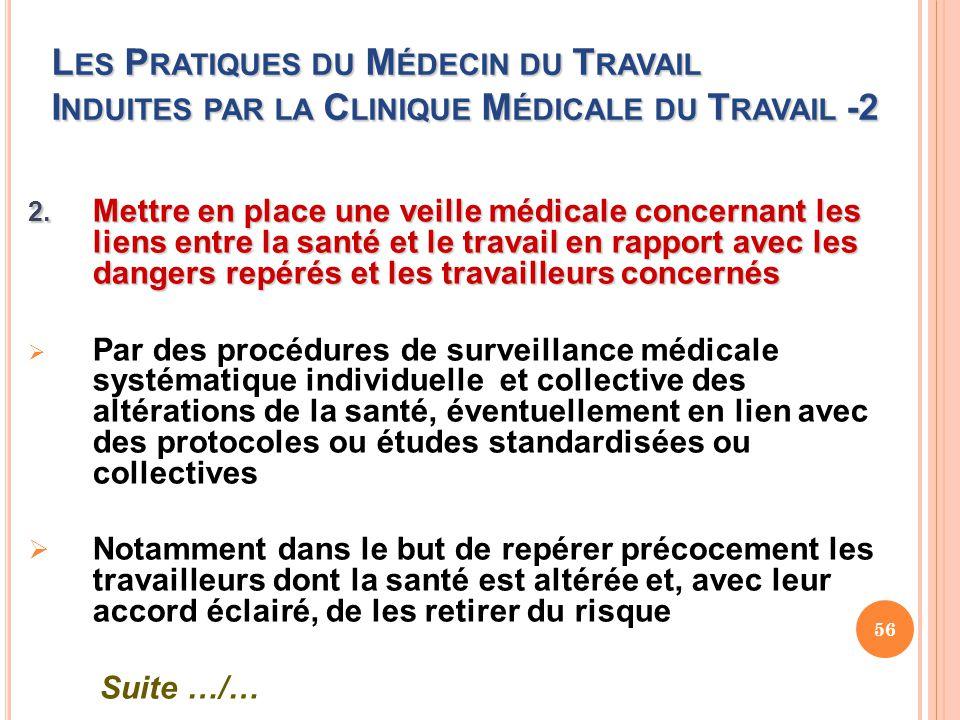Les Pratiques du Médecin du Travail Induites par la Clinique Médicale du Travail -2