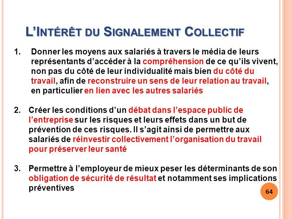 L'Intérêt du Signalement Collectif