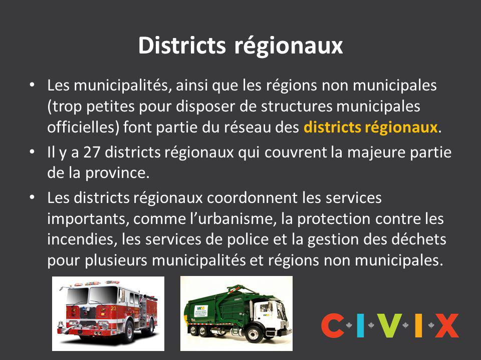 Districts régionaux