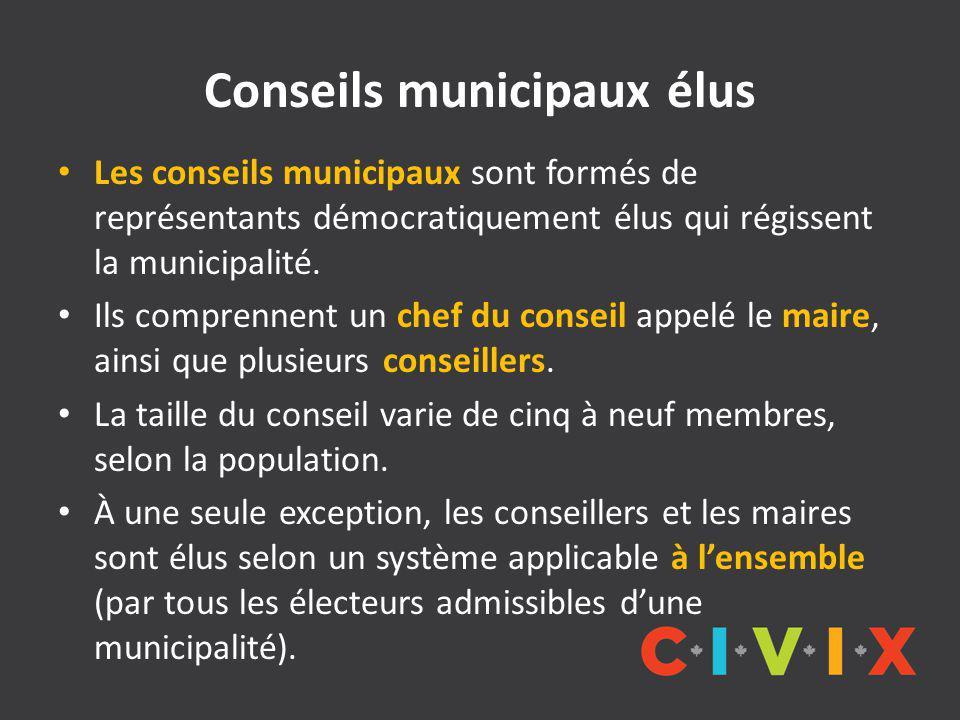 Conseils municipaux élus